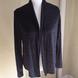 Charcoal gray lightweight knit cardigan